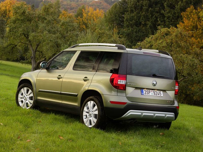 Exterior shot of the Skoda Yeti Outdoor
