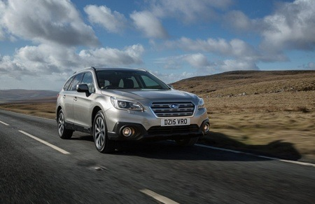 Subaru Outback on the road