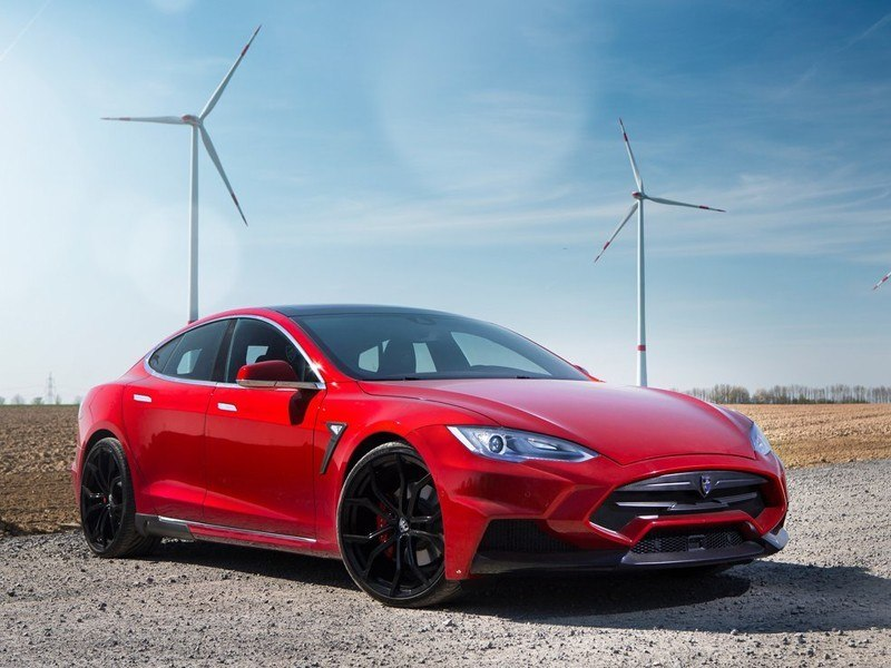 Telsa Model S Red Exterior Front 2
