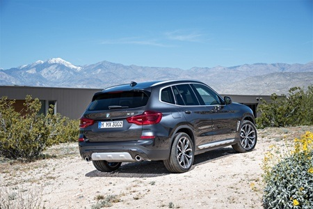 The all-new BMW X3 on the road rear view