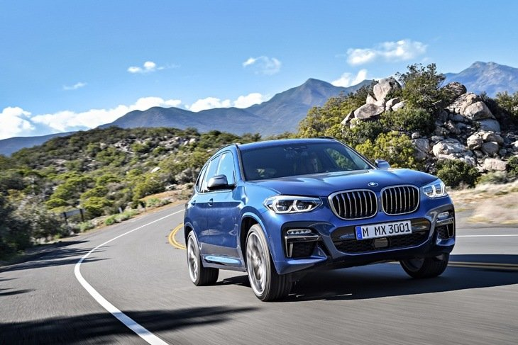 The all-new BMW X3 on the road