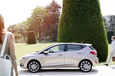 The all new Ford Fiesta side view