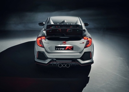 The all new Honda Civic Type R rear view