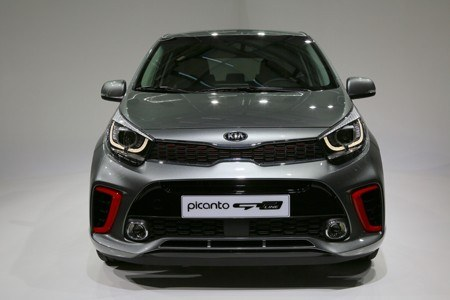 The all-new Kia Picanto city car front view