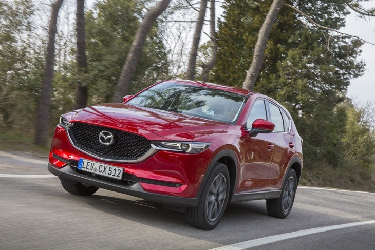 The all-new second-generation Mazda CX-5 on the road