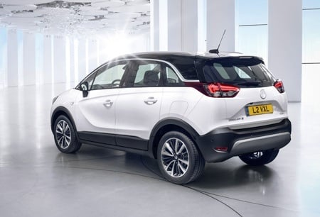 The all-new Vauxhall Crossland X rear view