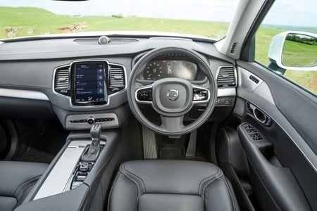 The buttonless interior of the new Volvo XC90 cabin
