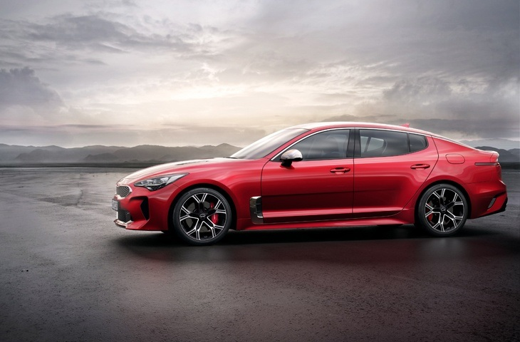 The European version of the new Kia Stinger