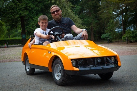 The Firefly from Young Driver Motor Cars can seat a driver and a passenger_ and is designed to be driven by 5-10 year olds