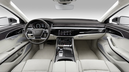 The new Audi A8 dashboard