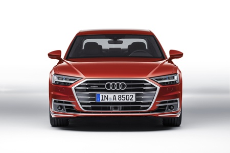 The new Audi A8 front view