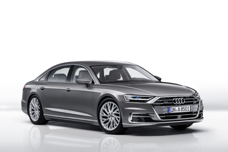 The new Audi A8 side view