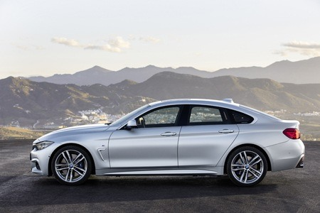 The new BMW 4 Series side view