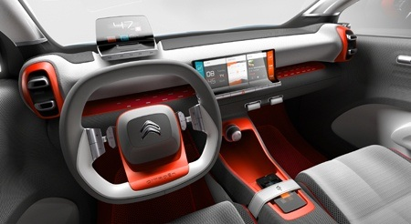 The new Citroen C-Aircross Concept Dashboard