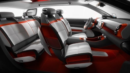 The new Citroen C-Aircross Concept Seating
