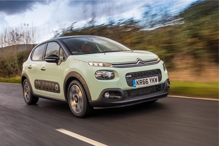 The new Citroen C3 on the road