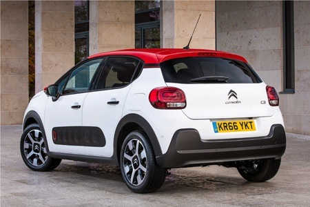 The new Citroen C3 rear view