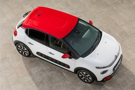 The new Citroen C3 seen from above