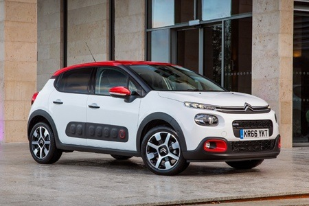 The new Citroen C3 with coloured roof