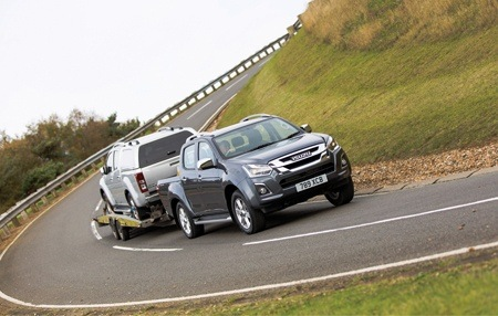 The new Isuzu D-Max pulling power on the road