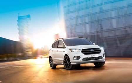The New Kuga ST-Line on the road