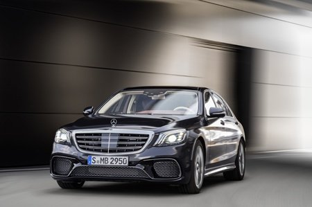 The new Mercedes-Benz S Class front view