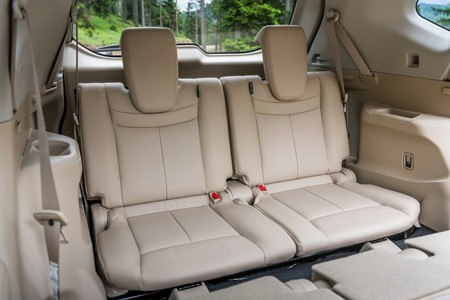 The new Nissan X-Trail rear seats interior