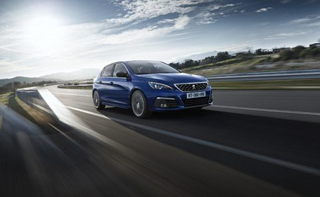 The new Peugeot 308 on the road
