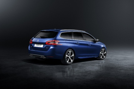 The new Peugeot 308 SW rear view