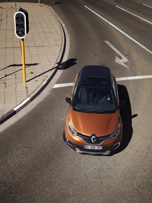 The New Renault Captur Top view