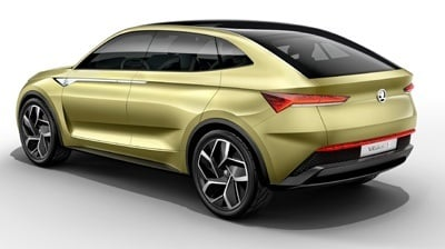 The new Skoda Vision E electric concept rear