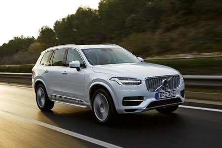 The new Volvo XC90 on the road