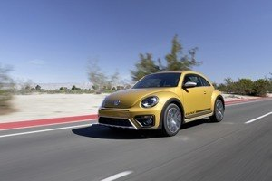 The new VW Beetle Dune Coupe on the road