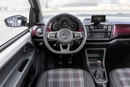 The new VW GTI up! concept classic interior