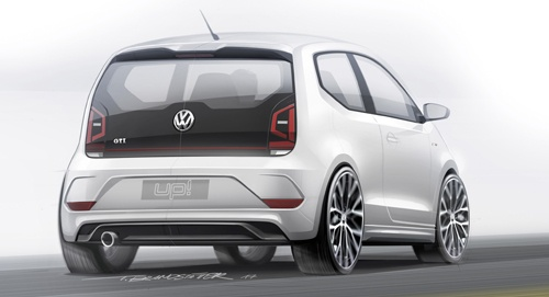 The new VW GTI up! concept rear view