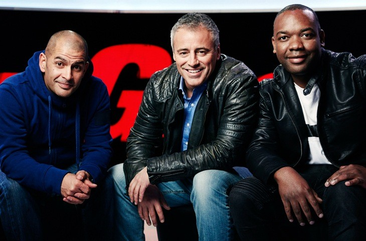 The presenting team on BBC Top Gear 2017