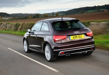 The rear of the new Audi A1