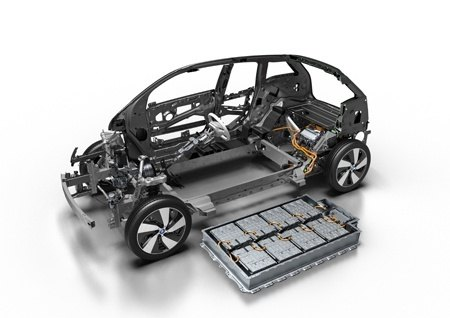 The Skeleton of the new BMW i3 94Ah