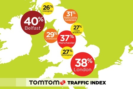 TomTom Traffic Index UK map