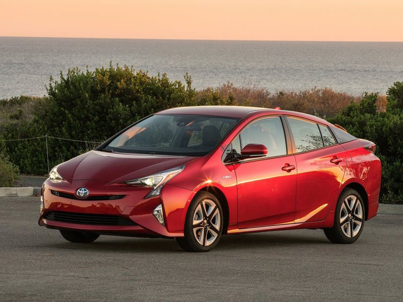 Toyota Prius Red Exterior Front