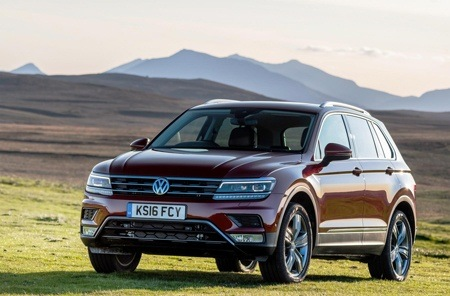 Volkswagen Tiguan on the road