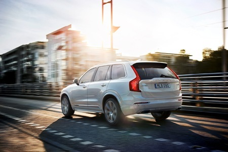 Volvo XC90 T8 on the road