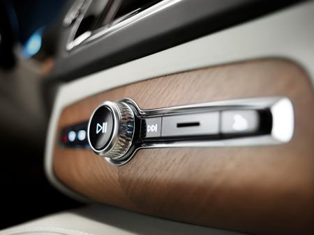 The new Volvo XC90 features a system called Sensus to aid technology at a touch screen