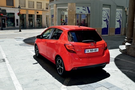 The rear view of the all-new Toyota Yaris