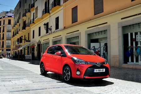 The front view of the all-new Toyota Yaris