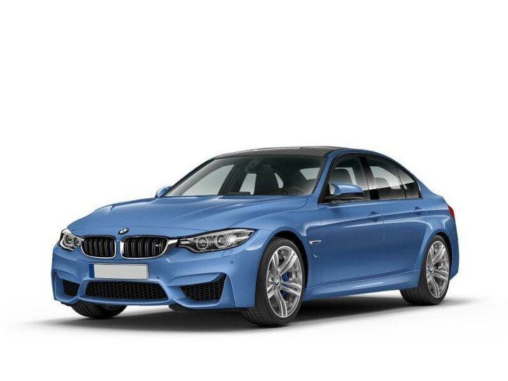 bmw m3 saloon blue front