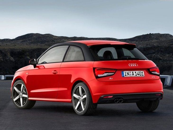 Audi A1 Red Exterior Back