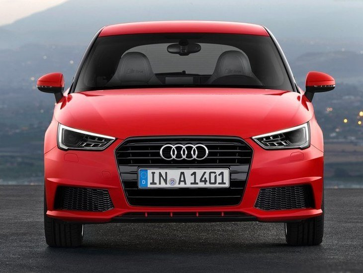 Audi A1 Red Exterior Front 3