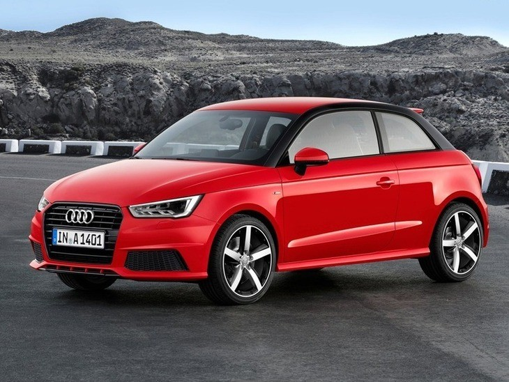 Audi A1 Red Exterior Front