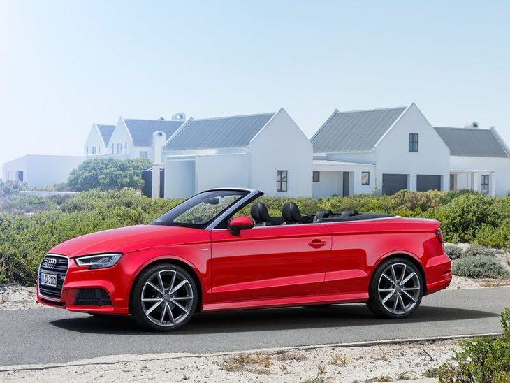 Audi A3 Cabriolet Exterior Red Side 2